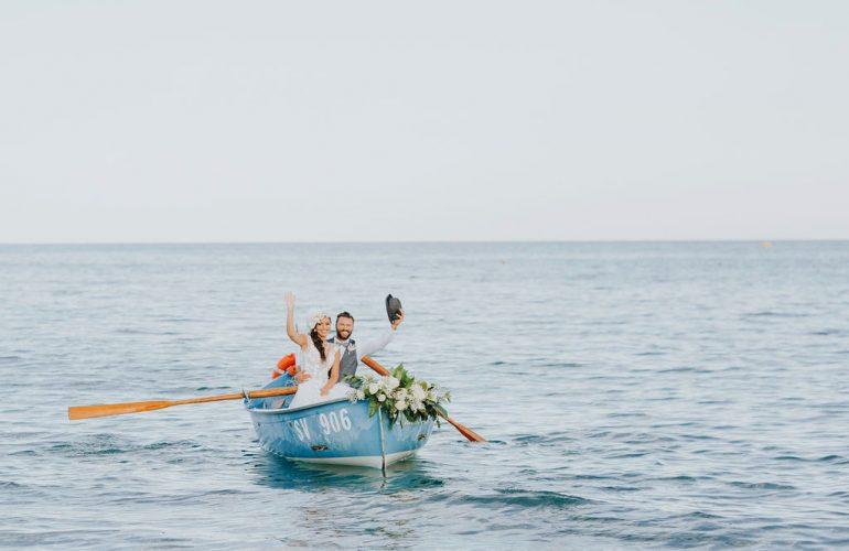 Sposi arrivo dal mare